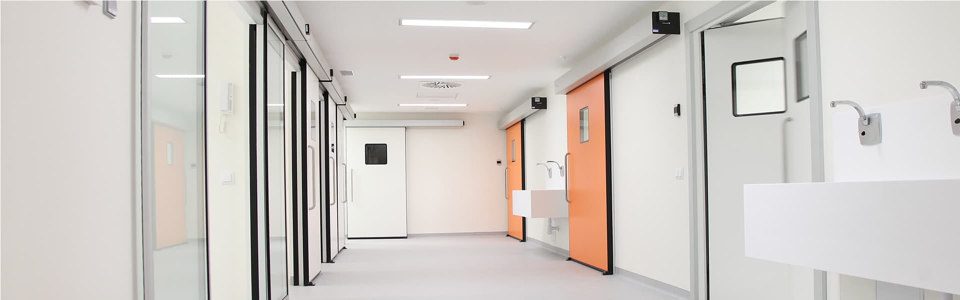 Doors for hospitals and laboratories